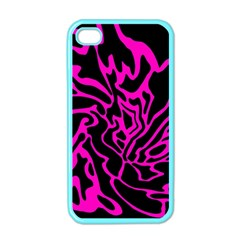 Magenta and black Apple iPhone 4 Case (Color)