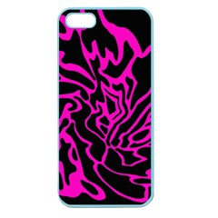 Magenta and black Apple Seamless iPhone 5 Case (Color)