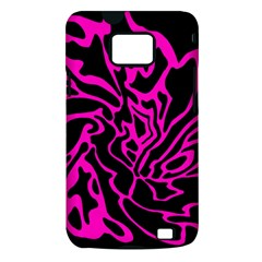 Magenta and black Samsung Galaxy S II i9100 Hardshell Case (PC+Silicone)