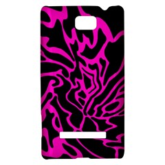 Magenta and black HTC 8S Hardshell Case