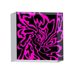 Magenta and black 4 x 4  Acrylic Photo Blocks