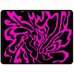 Magenta and black Double Sided Fleece Blanket (Large)