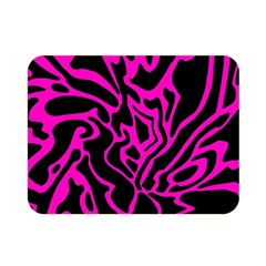 Magenta and black Double Sided Flano Blanket (Mini)