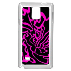 Magenta and black Samsung Galaxy Note 4 Case (White)