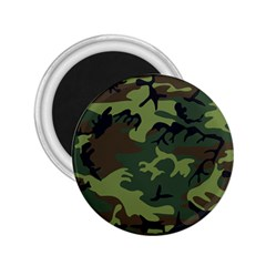 Woodland Camouflage Pattern 2.25  Magnets