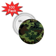 Woodland Camouflage Pattern 1.75  Buttons (100 pack)