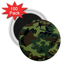 Woodland Camouflage Pattern 2.25  Magnets (100 pack)