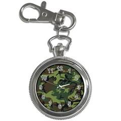 Woodland Camouflage Pattern Key Chain Watches