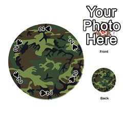 Woodland Camouflage Pattern Playing Cards 54 (Round)