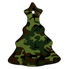 Woodland Camouflage Pattern Christmas Tree Ornament (2 Sides)