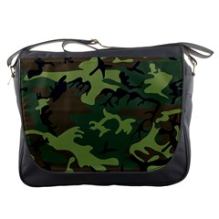 Woodland Camouflage Pattern Messenger Bags
