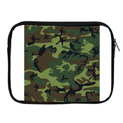 Woodland Camouflage Pattern Apple iPad 2/3/4 Zipper Cases