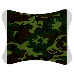 Woodland Camouflage Pattern Jigsaw Puzzle Photo Stand (Bow)