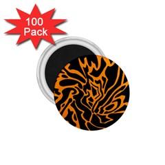 Orange and black 1.75  Magnets (100 pack)