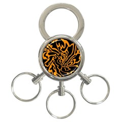 Orange and black 3-Ring Key Chains