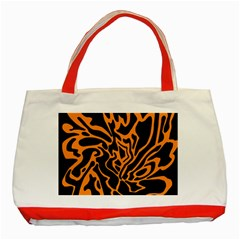 Orange and black Classic Tote Bag (Red)