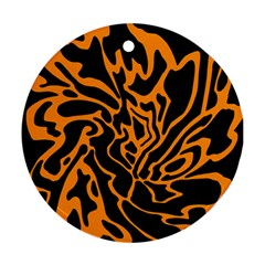 Orange and black Round Ornament (Two Sides)