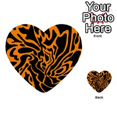 Orange and black Multi-purpose Cards (Heart)