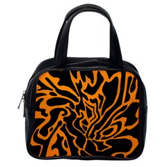 Orange and black Classic Handbags (One Side)