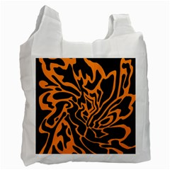 Orange and black Recycle Bag (Two Side)