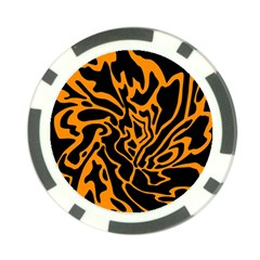 Orange and black Poker Chip Card Guards (10 pack)