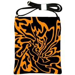 Orange and black Shoulder Sling Bags