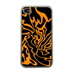 Orange and black Apple iPhone 4 Case (Clear)