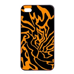 Orange and black Apple iPhone 4/4s Seamless Case (Black)