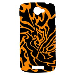Orange and black HTC One S Hardshell Case