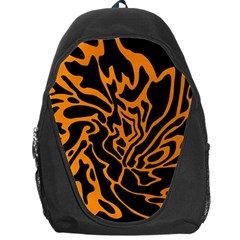 Orange and black Backpack Bag