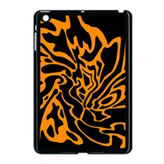 Orange and black Apple iPad Mini Case (Black)