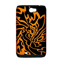 Orange and black Samsung Galaxy Note 2 Hardshell Case (PC+Silicone)