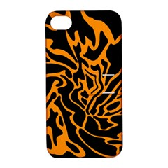 Orange and black Apple iPhone 4/4S Hardshell Case with Stand
