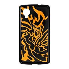 Orange and black Nexus 5 Case (Black)