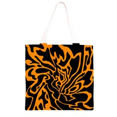 Orange and black Grocery Light Tote Bag
