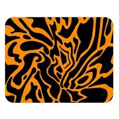 Orange and black Double Sided Flano Blanket (Large)