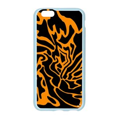 Orange and black Apple Seamless iPhone 6/6S Case (Color)