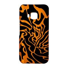 Orange and black HTC One M9 Hardshell Case