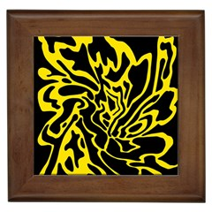 Black and yellow Framed Tiles