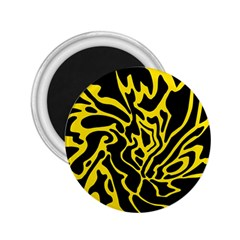 Black and yellow 2.25  Magnets