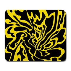 Black and yellow Large Mousepads