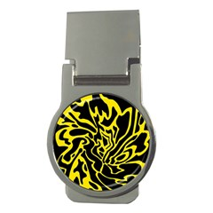 Black and yellow Money Clips (Round)