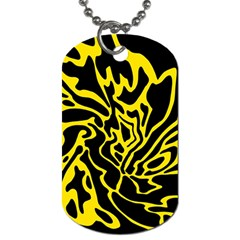 Black and yellow Dog Tag (One Side)