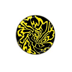 Black and yellow Hat Clip Ball Marker (10 pack)