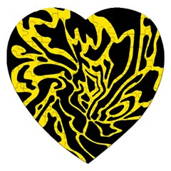 Black and yellow Jigsaw Puzzle (Heart)