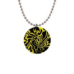 Black and yellow Button Necklaces