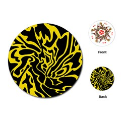 Black and yellow Playing Cards (Round)