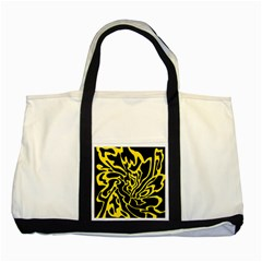 Black and yellow Two Tone Tote Bag