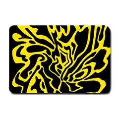 Black and yellow Small Doormat