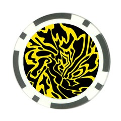 Black and yellow Poker Chip Card Guards